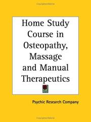 Cover of: Home Study Course in Osteopathy, Massage and Manual Therapeutics | Psychic Research Co.