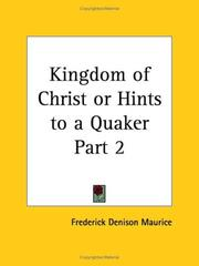 Cover of: Kingdom of Christ or Hints to a Quaker, Part 2