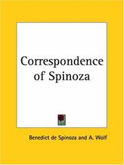 Cover of: The correspondence of Spinoza