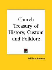 Cover of: Church Treasury of History, Custom and Folklore | William Andrews