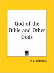 Cover of: God of the Bible and Other Gods | Paul E. Kretzmann