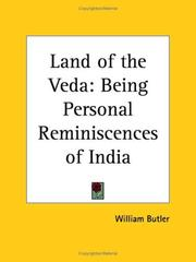 Cover of: Land of the Veda | William Butler