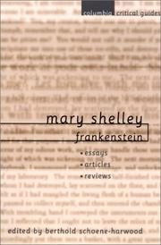 Cover of: Mary Shelley | Berthold Schoene-Harwood