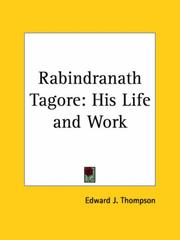 Cover of: Rabindranath Tagore | Edward J. Thompson