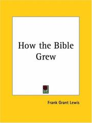 Cover of: How the Bible grew