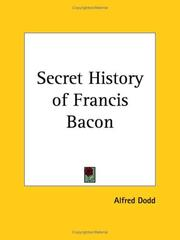 Cover of: Secret History of Francis Bacon