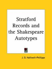 Cover of: Stratford Records and the Shakespeare Autotypes
