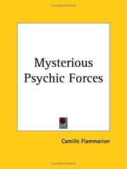 Cover of: Mysterious psychic forces