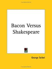 Cover of: Bacon versus Shakespeare