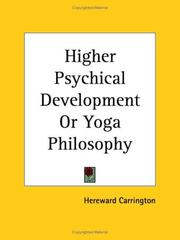 Cover of: Higher Psychical Development or Yoga Philosophy