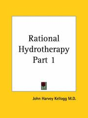 Cover of: Rational Hydrotherapy, Part 1