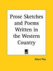 Cover of: Prose sketches and poems, written in the western country