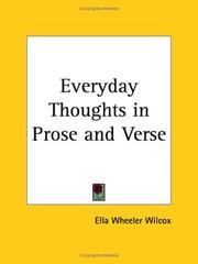 Cover of: Everyday Thoughts in Prose and Verse