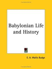 Cover of: Babylonian Life and History | Ernest Alfred Wallis Budge