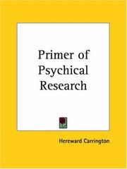 Cover of: A primer of psychical research