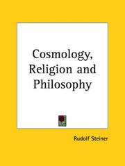 Cover of: Cosmology, Religion, & Philosophy