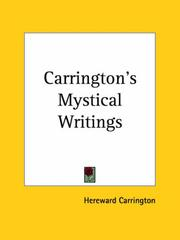 Cover of: Carrington's Mystical Writings