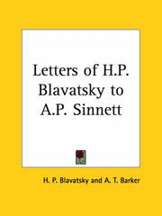The Letters of H.P. Blavatsky to A.P. Sinnett by A. Trevor Barker