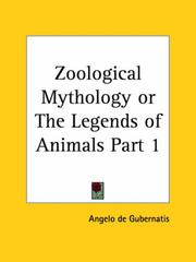 Cover of: Zoological Mythology or The Legends of Animals, Part 1
