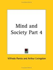 Cover of: Mind and Society, Part 3
