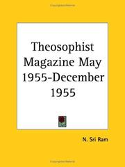 Cover of: Theosophist Magazine May 1955-December 1955