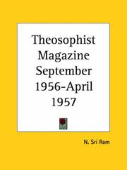 Cover of: Theosophist Magazine September 1956-April 1957