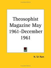 Cover of: Theosophist Magazine May 1961-December 1961