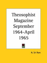 Cover of: Theosophist Magazine September 1964-April 1965