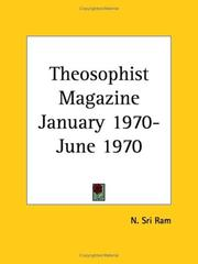 Cover of: Theosophist Magazine January 1970-June 1970