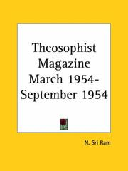 Cover of: Theosophist Magazine March 1954-September 1954