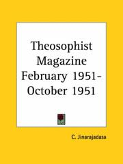 Cover of: Theosophist Magazine February 1951-October 1951 | C. Jinarajadasa