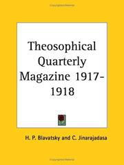 Cover of: Theosophical Quarterly Magazine 1917-1918 | H. P. Blavatsky