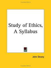 Cover of: The study of ethics: a syllabus