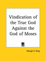 Cover of: Vindication of the True God Against the God of Moses