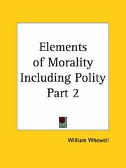 Cover of: Elements of Morality Including Polity, Part 2