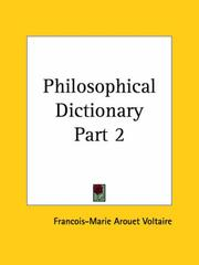 Cover of: Philosophical Dictionary, Part 2 | Voltaire