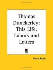 Cover of: Thomas Dunckerley