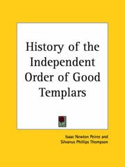 Cover of: History of the Independent Order of Good Templars