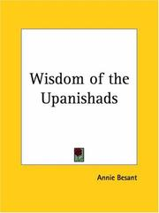 Cover of: Wisdom of the Upanishads