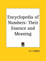Cover of: Encyclopedia of Numbers | A. E. Abbott