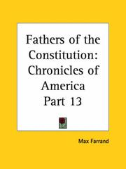 Cover of: Fathers of the Constitution