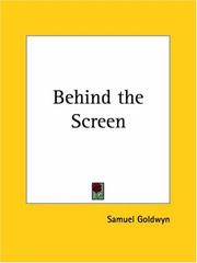 Cover of: Behind the screen