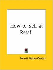 Cover of: How to Sell at Retail