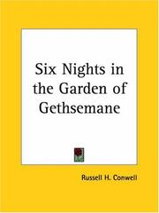 Cover of: Six Nights in the Garden of Gethsemane