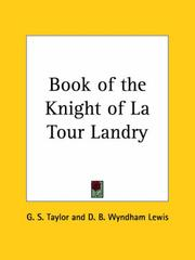 Cover of: Book of the Knight of La Tour Landry | D. B. Wyndham Lewis