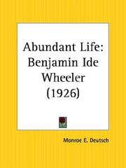 Cover of: Abundant Life | Monroe E. Deutsch
