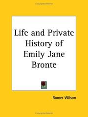 Cover of: Life and Private History of Emily Jane Bronte