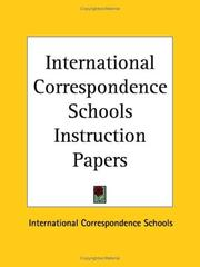 Cover of: International Correspondence Schools Instruction Papers | Kessinger Publishing Company