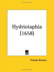 Cover of: Hydriotaphia