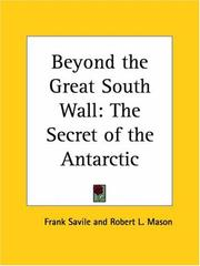 Cover of: Beyond the Great South Wall | Frank Savile